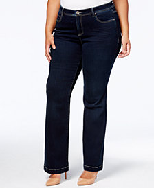 I.N.C. Plus Size Tummy Control Bootcut Jeans, Created for Macy's
