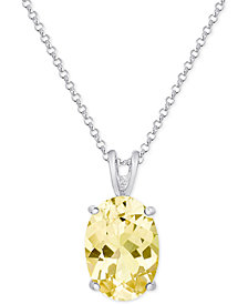 Citrine Pendant Necklace (5-1/5 ct. t.w.) in Sterling Silver