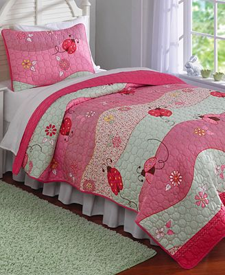 Laura Hart Kids' Garden Waves Reversible Quilt Sets