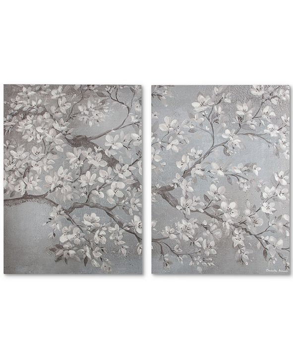 Graham & Brown Tranquil Orchid Canvas Print, Set of 2