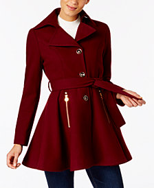 I.N.C. Petite Skirted Walker Coat, Created at Macy's