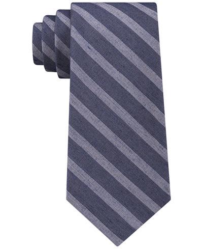 Calvin Klein Men's Washed Stripe Tie