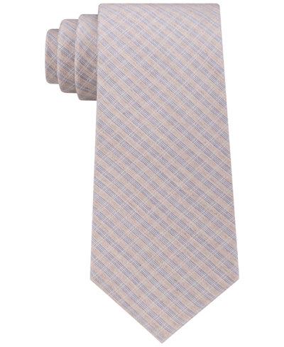 Calvin Klein Men's Mini Soft Check Tie