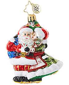Christopher Radko Mr. & Mrs. Mistletoe Little Gem Ornament