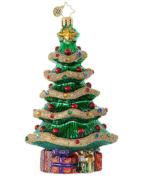 Product Details. Keep the season bright with Christopher Radko's hand  painted Christmas Tree Ornament ... - Christopher Radko Christmas Tree Ornament - All Holiday Lane - Home