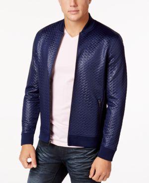 I.n.c. Men's Basket-Weave Bomber Jacket, Created for Macy's