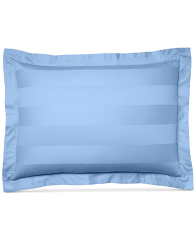 Charter Club Damask Stripe Standard Sham, 100% Supima Cotton 550 Thread Count, Created for Macy's