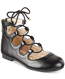 Sam Edelman Felicia Stella Lace-Up Flats, Little Girls & Big Girls