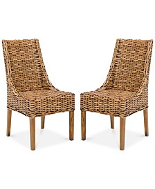 Suncoast Rattan Armchair (Set Of 2), Quick Ship