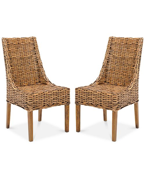 Safavieh Suncoast Rattan Armchair (Set Of 2), Quick Ship