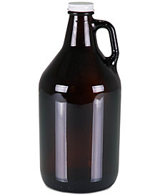 Picnic Time 64-Oz. Amber Translucent Glass Growler