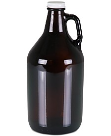 Legacy® by Picnic Time 64-Oz. Amber Translucent Glass Growler