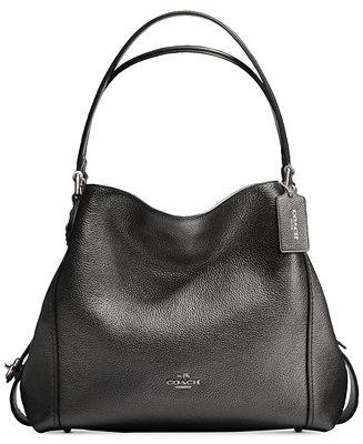 Tote - Edie 28 Shoulder Bag Metallic Graphite - black - Tote for ladies Coach vgIOkV0