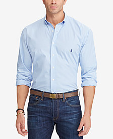 Polo Ralph Lauren Men's Big & Tall Classic Fit Poplin Shirt