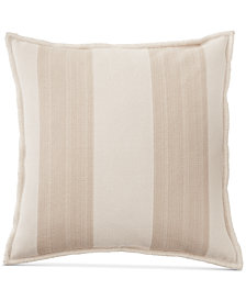 "CLOSEOUT! Lauren Ralph Lauren Graydon Ticking Stripe 20"" Square Decorative Pillow"