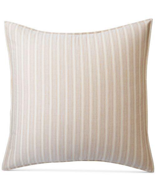 Lauren Ralph Lauren CLOSEOUT! Graydon Cotton Bold Stripe European Sham