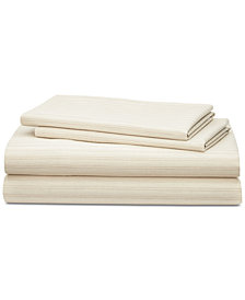 CLOSEOUT! Lauren Ralph Lauren Graydon Cotton 4-Pc. Shirting Stripe King Sheet Set