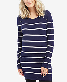 Motherhood Maternity Striped Nursing Sweater