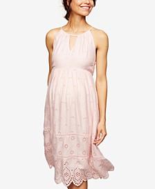Maternity Laser-Cut Dress