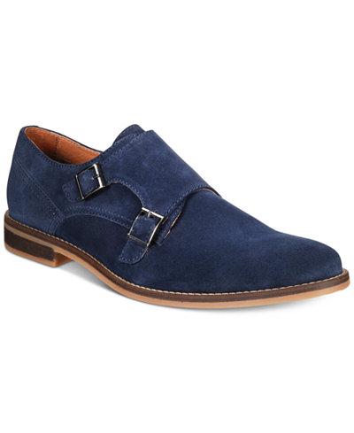 Alfani Men's Jacob Suede Monk-Strap Dress Shoes Created for Macy's
