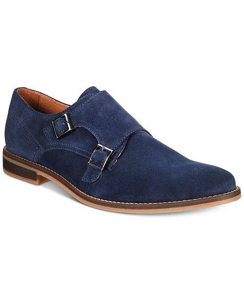 74b3d4aebec Alfani Men's Jacob Suede Monk-Strap Dress Shoes Created for Macy's ...