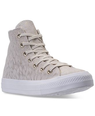 Converse Women's Chuck Taylor Hi Shimmer Casual Sneakers from Finish Line