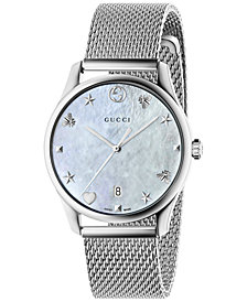 Gucci Women's Swiss G-Timeless Stainless Steel Mesh Bracelet Watch 36mm