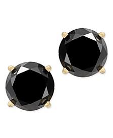 Black Diamond Stud Earrings (2 ct. t.w.) 14k White Gold