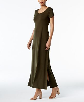 Petite Scoop-Neck Maxi Dress, Created for Macy's $32.32
