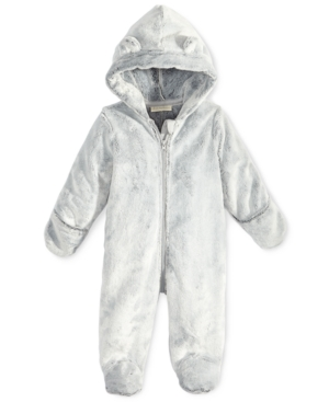 First Impressions FauxFur Bear Footed Snowsuit Baby Boys (024 months) Created for Macys