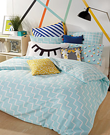 Scribble Reversible 2-Pc. Zig-Zag Twin Duvet Cover Mini Set