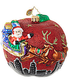 Christopher Radko Santa's Big Apple Ornament