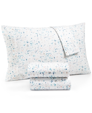 Whim by Martha Stewart Collection Novelty Print Standard Pillowcase Pair 200 Thread Count 100 Cotton Percale Created for Macys Bedding