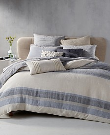 CLOSEOUT! Hotel Collection  Linen Stripe Bedding Collection, Created for Macy's