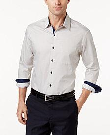 Tasso Elba Long Sleeve Stripe Shirt, Created for Macy's