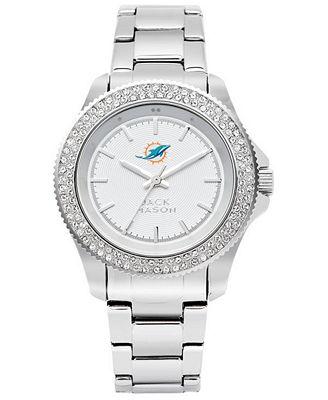 Jack Mason Women's Miami Dolphins Glitz Sport Bracelet Watch