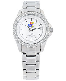 Jack Mason Women's Kansas Jayhawks Glitz Sport Bracelet Watch