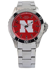 Jack Mason Men's Nebraska Cornhuskers Color Sport Bracelet Watch