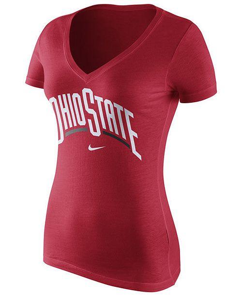 Nike Women's Ohio State Buckeyes Wordmark T-Shirt
