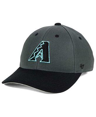 '47 Brand Boys' Arizona Diamondbacks 2-Tone Charcoal/Black MVP Cap