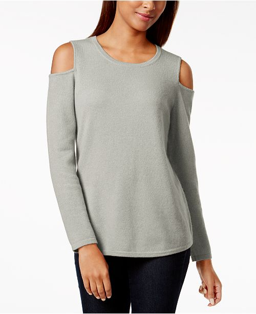 70c9591ff8710f ... Charter Club Cashmere Cold-Shoulder Sweater