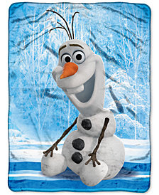 "Disney Frozen Olaf ""Chills and Thrills"" 46"" x 60"" Plush Micro-Raschel Throw"