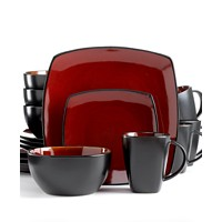 Deals on Gibson Signature Living Barcelona Red 16-Piece Set