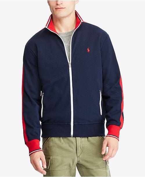 f0f5ee2b12d2 Polo Ralph Lauren Men s Knit Cotton Track Jacket   Reviews - Coats ...