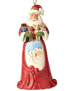 Click here for Jim Shore Santa Hugging Stuffed Animals Hanging Ornament prices