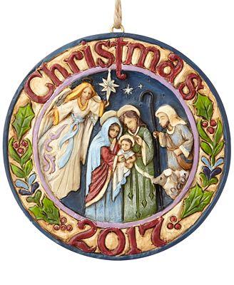 Jim Shore Christmas 2017 Nativity Hanging Ornament
