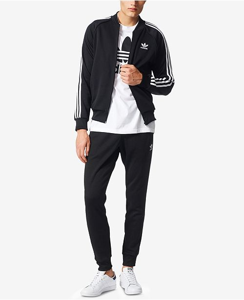 e70da7f4f36f adidas Men s Superstar Zippered Track Jacket and Training Pants ...