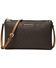MICHAEL Michael Kors Signature Adele Double-Zip Crossbody