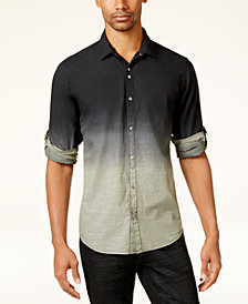 I.N.C. Men's Dip-Dyed Shirt, Created for Macy's