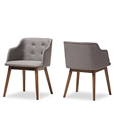 Harrison Button-Tufted Accent Chair (Set Of 2)